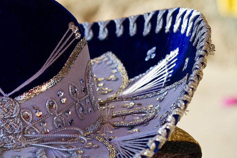 Fancy blue sombrero